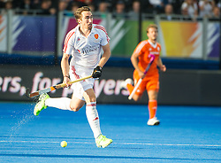 England's David Condon. England v Netherlands  - Unibet EuroHockey Championships, Lee Valley Hockey & Tennis Centre, London, UK on 23 August 2015. Photo: Simon Parker