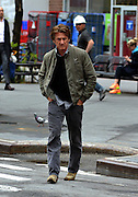 May 9, 2014 - New York, New York, U.S. - <br /> <br /> Sean Penn Out In Tribeca<br /> <br /> Actor SEAN PENN wearing a green jacket, grey jeans and cowboy boots is seen crossing the street in Tribeca. <br /> ©Exclusivepix