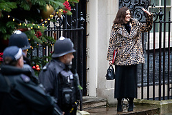 © Licensed to London News Pictures. 17/12/2019. London, UK. Secretary of State for Environment, Food and Rural Affairs Theresa Villiers arrives for the first meeting of the cabinet after the Conservatives won a majority in the 2019 General Election. Photo credit: Rob Pinney/LNP