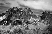 Mountaintop in the Alps, as seen from the Croix de Fer // Bergtop in de Alpen, gezien vanaf de Croix de Fer.