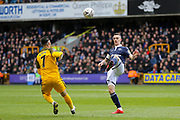Millwall midfielder Shaun Williams (6) batltes with Brighton and Hove Albion midfielder Beram Kayal (7) during the The FA Cup quarter final match between Millwall and Brighton and Hove Albion at The Den, London, England on 17 March 2019.