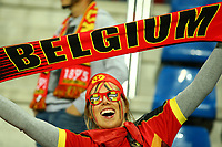 A fan of Belgium celebrates during the UEFA European Championship 2016 qualifying Group B football match between Andorra and Belgium on October 10, 2015 at The Estadi Nacional in Andorra la Vella, Andorra. <br /> Photo Manuel Blondeau/AOP Press/DPPI