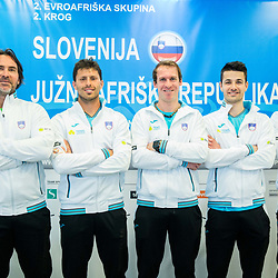 20170330: SLO, Tennis - Team Slovenia for Davis Cup against South African Republic