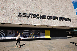 Exterior view of Deutsche Oper  the German Opera house in Berlin Germany