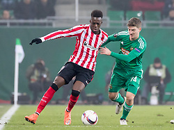 08.12.2016, Weststadion, Wien, AUT, UEFA EL, SK Rapid Wien vs Athletic Club Bilbao, Gruppe F, im Bild Inaki Williams (Athletic Club Bilbao), Stephan Auer (SK Rapid Wien) // during a UEFA Europa League, group F game between SK Rapid Wien and Athletic Club Bilbao at the Weststadion, Vienna, Austria on 2016/12/08. EXPA Pictures © 2016, PhotoCredit: EXPA/ Sebastian Pucher