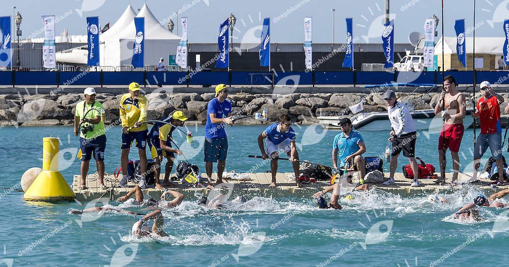 Men's Supply<br /> 10 Km FINA/HOSA Marathon Swimming World Cup<br /> Abu Dhabi Sailing and Yacht club<br /> Abu Dhabi U.A.E. 11 - 13 march 2015<br /> Day 3 - March 13 th <br /> Photo Giorgio Scala / Deepbluemedia