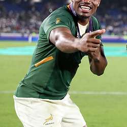 Makazole Mapimpi during the Rugby World Cup Final match between South Africa Springboks and England Rugby World Cup Final at the International Stadium Yokohama  Japan.Saturday 02 November 2019. (Mandatory Byline -Steve Haag Sports Hollywoodbets)