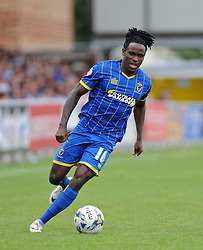 Wimbledon's Kevin Sainte-Luce - photo mandatory by-line David Purday JMP- Tel: Mobile 07966 386802 - 30/08/14 - Afc Wimbledon v Stevenage - SPORT - FOOTBALL - Sky Bet Leauge 2 - London - The Cherry Red Stadium