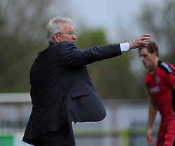 Dover Athletic Manager, Chris Kinnear gives orders from the side line.  - Photo mandatory by-line: Nizaam Jones - Mobile: 07966 386802 - 25/04/2015 - SPORT - Football - Nailsworth - The New Lawn - Forest Green Rovers v Dover - Vanarama Conference League