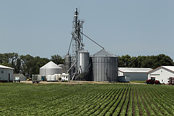 A grain farming operation in eastern South Dakota