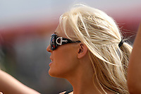 2008 British Touring Car Championship.Thruxton Circuit, Hampshire, United Kingdom.  17th-18th May 2008..VX Racing Grid Girl.World Copyright: Peter Taylor/PSP