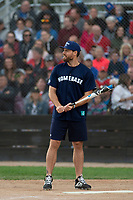KELOWNA, CANADA - JUNE 28: NHL Montreal Canadiens player Shea Weber steps up to plate during the opening charity game of the Home Base Slo-Pitch Tournament fundraiser for the Kelowna General Hospital Foundation JoeAnna's House on June 28, 2019 at Elk's Stadium in Kelowna, British Columbia, Canada.  (Photo by Marissa Baecker/Shoot the Breeze)