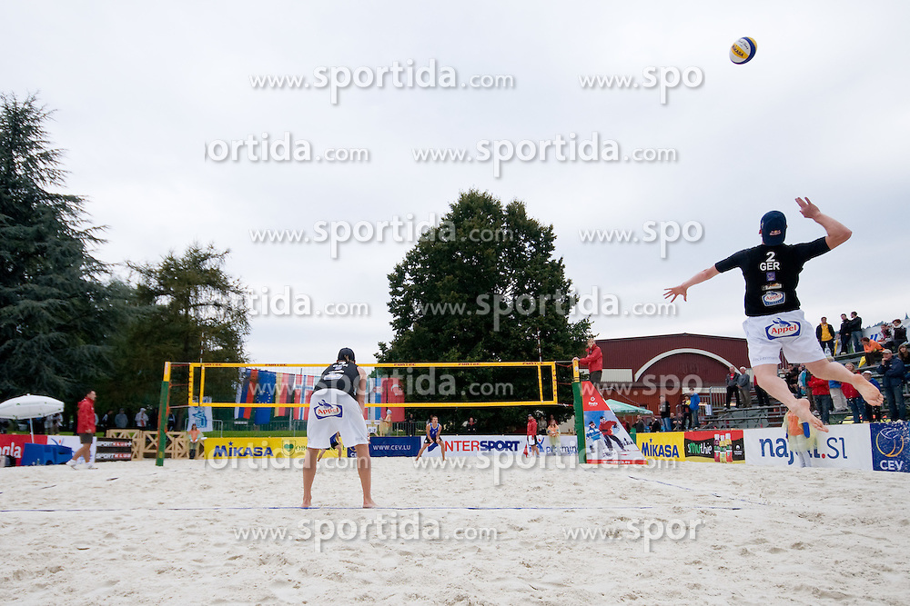 Jonas Reckermann of Germany at CEV European Continental Beach Volleyball Cup for Olympic Qualification, on September 4, 2010, in Zrece, Slovenia. (Photo by Matic Klansek Velej / Sportida).