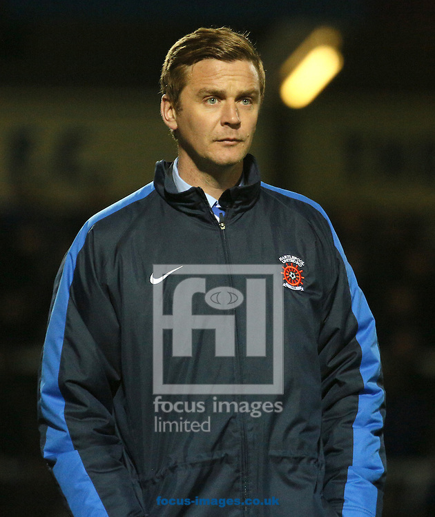 Picture by Paul Gaythorpe/Focus Images Ltd +447771 871632.07/11/2012.Hartlepool United temporary manager Micky Barron during the npower League 1 match at Victoria Park, Hartlepool.