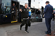 Leeds United Manager Marcelo Bielsa arriving at the ground during the EFL Sky Bet Championship match between Preston North End and Leeds United at Deepdale, Preston, England on 9 April 2019.