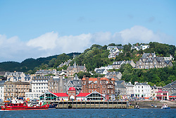 View of town of Oban in Argyll and Bute, Scotland, United Kingdom