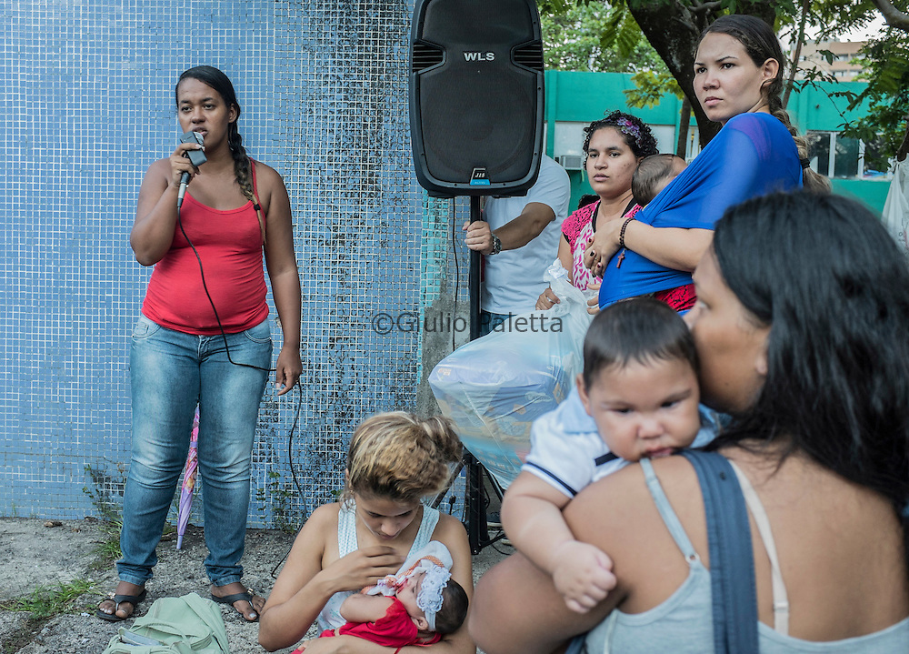 The weekly meetings of the U.M.A. (União das Mães de Anjos) in Boa Viagem, Recife, Pernambuco. Created by mothers with infants with microcephaly in order to help other mothers in the same situation, this association is run by Germana Soares Amorem (24), and Jaqueline Vieira De Souza (25)