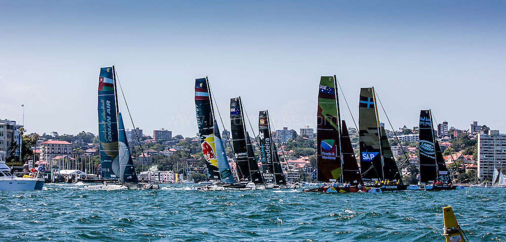 The Extreme Sailing Series 2016. Act 8.Sydney,Australia. 8th-11th December 2016. Credit - Jesus Renedo/Lloyd Images