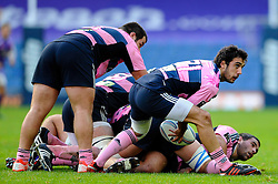 Stade Francais replacement (#21) Lucas Rubio in action in the second half - Photo mandatory by-line: Rogan Thomson/JMP - Tel: Mobile: 07966 386802 13/10/2012 - SPORT - RUGBY - Kassam Stadium - Oxford. London Welsh v Stade Francais - European Challenge Cup