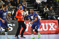 Issam Tej / Arnaud Siffert - 15.03.2015 - Montpellier / Kielce - 1/8Finale aller Ligue des Champions<br /> Photo : Andre Delon / Icon Sport