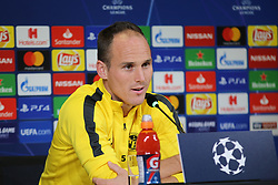 October 1, 2018 - Turin, Piedmont, Italy - Steve von Bergen (Berner Sport Club Young Boys) during the press conference on the eve of the UEFA Champions League match between Juventus FC and  Berner Sport Club Young Boys at Allianz Stadium on October 01l, 2018 in Turin, Italy. (Credit Image: © Massimiliano Ferraro/NurPhoto/ZUMA Press)
