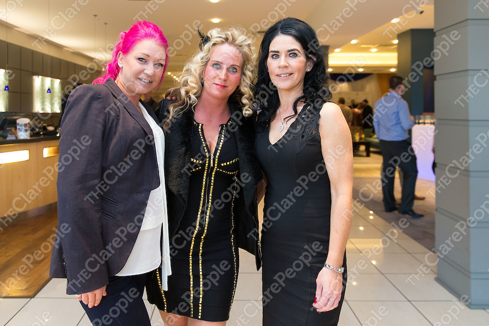 Karise Conway, Winnie Wymbs, both from Shannon with Catherine Rowen, Limerick, at the Lufthansa Technik Shannon 25 years Celebration