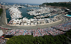MONTE-CARLO, MONACO - Sunday, May 24, 2009: Felipe Massa (BRA Ferrari) drives past the expensive yachts moored in the harbour during the Monaco Formula One Grand Prix at the Monte-Carlo Circuit. (Pic by Juergen Tap/Hoch Zwei/Propaganda)