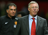 Photo: Paul Thomas.<br /> Manchester United v Inter Milan. Pre Season Friendly. 01/08/2007.<br /> <br /> Sir Alex Ferguson, manager of Utd walks towards the tunnel after the game.