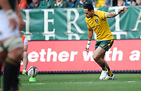 CAPE TOWN, SOUTH AFRICA - Saturday 28 September 2013, Christian Lealifano of Australia during the Castle Lager Rugby Championship test match between South Africa (Sprinkboks) and Australia (Wallabies) at DHL Newlands in Cape Town.<br /> Photo by Roger Sedres/ ImageSA