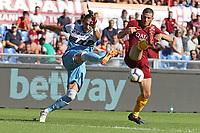 Martin Caceres Lazio Alessandro Florenzi Roma<br />Roma 28-09-2018 Stadio Olimpico Football Calcio Serie A 2018/2019 AS Roma - Lazio Foto Luca Pagliaricci / Insidefoto