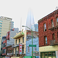 TransAmerica tower in the background of ChinaTown.  Mandatory Credit: Dinno Kovic / Dinno Kovic Photography