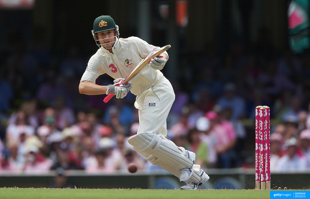 Michael Clarke batting during the Australia V Pakistan 2nd Cricket Test match at the Sydney Cricket Ground, Sydney, Australia, 5 January 2010. Photo Tim Clayton