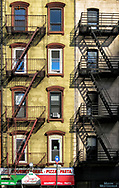 Fire escapes on 8th Avenue at 56th street, New York City.