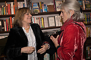 CATHERINE GUINNESS, LADY ANNE LAMBTON,  book launch for No Longer With Us by Naim Attallah. Daunt books. Marylebone. London. 28 Novermber 2018