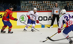 20.04.2016, Dom Sportova, Zagreb, CRO, IIHF WM, Rumaenien vs Kroatien, Division I, Gruppe B, im Bild MIHALY Ede // during the 2016 IIHF Ice Hockey World Championship, Division I, Group B, match between Romania and Croatia at the Dom Sportova in Zagreb, Croatia on 2016/04/20. EXPA Pictures © 2016, PhotoCredit: EXPA/ Pixsell/ Dalibor Urukalovic<br /> <br /> *****ATTENTION - for AUT, SLO, SUI, SWE, ITA, FRA only*****