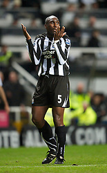 NEWCASTLE, ENGLAND - Saturday, December 11, 2010: Newcastle United's Sol Campbell in action against Liverpool during the Premiership match at St James' Park. (Photo by: David Rawcliffe/Propaganda)
