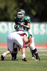 08 September 2012:  Rob Gallik during an NCAA division 3 football game between the Alma Scots and the Illinois Wesleyan Titans which the Titans won 53 - 7 in Tucci Stadium on Wilder Field, Bloomington IL