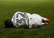 Mauro Vilhete goes down after a tough challenge during the EFL Sky Bet League 2 match between Leyton Orient and Barnet at the Matchroom Stadium, London, England on 7 January 2017. Photo by Jack Beard.