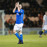 St Mirren v St Johnstone...06.12.14   SPFL<br /> James McFadden applauds the fans as he is subbed<br /> Picture by Graeme Hart.<br /> Copyright Perthshire Picture Agency<br /> Tel: 01738 623350  Mobile: 07990 594431