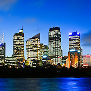 High resolution panorama of Sydney city skyline overlooking Sydney Harbour