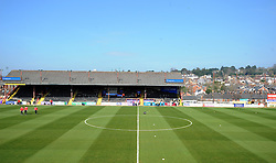 General view of St James Park prior to kick off - Photo mandatory by-line: Harry Trump/JMP - Mobile: 07966 386802 - 06/04/15 - SPORT - FOOTBALL - Sky Bet League Two - Exeter City v Newport County - St James Park, Exeter, England.