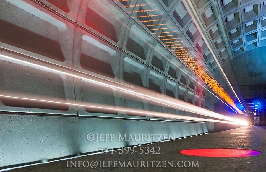 Image of a Washington, D.C. metro train.