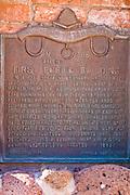 Historic plaque at the site of the first public building, Escalante, Utah