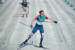 February 25, 2018 - Pyeongchang, South Korea - Jessica Diggins of USA compete during the Ladies Cross Country Skiing Mass Start 30k at the PyeongChang 2018 Winter Olympic Games at Alpensia Cross-Country Skiing Centre on Sunday February 25, 2018. (Credit Image: © Paul Kitagaki Jr. via ZUMA Wire)