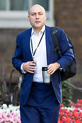 © Licensed to London News Pictures. 30/07/2019. London, UK. Chief business adviser Andrew Griffith arrives at 10 Downing Street. He is expected to step down from his position at Sky while working for Boris Johnson.  Photo credit: George Cracknell Wright/LNP