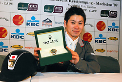 Sato Eiken (JPN) <br /> Winner Rolex Fei World Cup Qualifier<br /> CSI-W Mechelen 2009<br /> Photo © Dirk Caremans