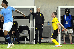 July 20, 2018 - Chicago, IL, U.S. - CHICAGO, IL - JULY 20: Borussia Dortmund head coach Lucien Favre reacts from the sidelines during an International Champions Cup match between Manchester City and Borussia Dortmund on July 20, 2018 at Soldier Field in Chicago, Illinois. (Photo by Robin Alam/Icon Sportswire) (Credit Image: © Robin Alam/Icon SMI via ZUMA Press)