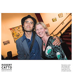 Taika Waititi;Delia Shanly at the Arts Foundation of New Zealand New Generation Awards at the St James Theatre, Wellington, New Zealand.<br />