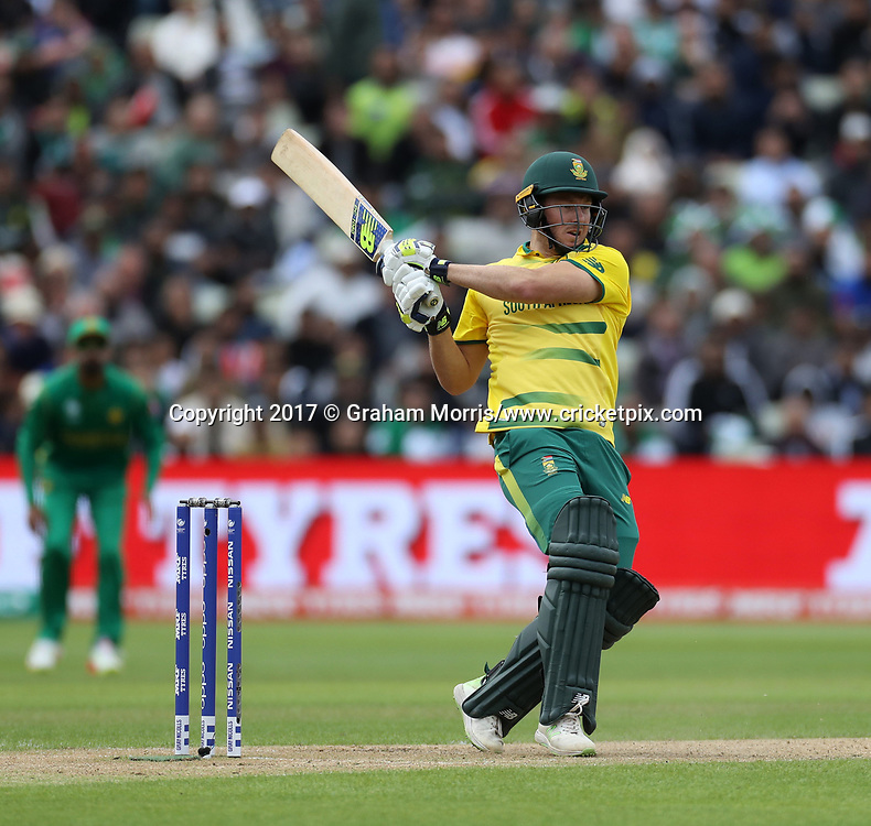 David Miller bats during the Champions Trophy One Day International between Pakistan and South Africa at Edgbaston, Birmingham. 7 June 2017. Photo: Graham Morris/www.cricketpix.com / www.photosport.nz