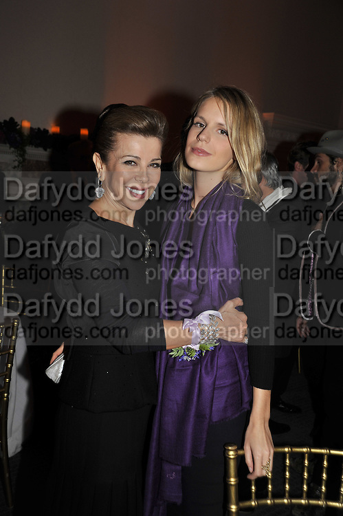 H.R.H. Princess Firyal ; EUGENIE NIARCHOS, Nicky Haslam party for Janet de Bottona nd to celebrate 25 years of his Design Company.  Parkstead House. Roehampton. London. 16 October 2008.  *** Local Caption *** -DO NOT ARCHIVE-© Copyright Photograph by Dafydd Jones. 248 Clapham Rd. London SW9 0PZ. Tel 0207 820 0771. www.dafjones.com.
